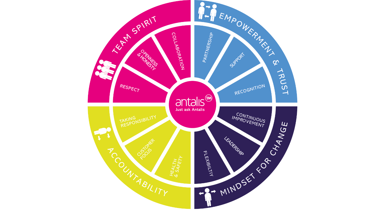 Image of the Antalis wheel of values
