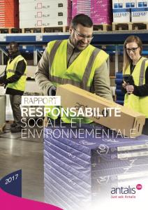 Rapport Responsabilité Sociale et Environnementale 2017 ANTALIS